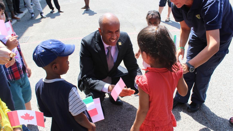 Il ministro canadese Ahmed Hussen in visita al Cara Auxilium di Castelnuovo di Porto