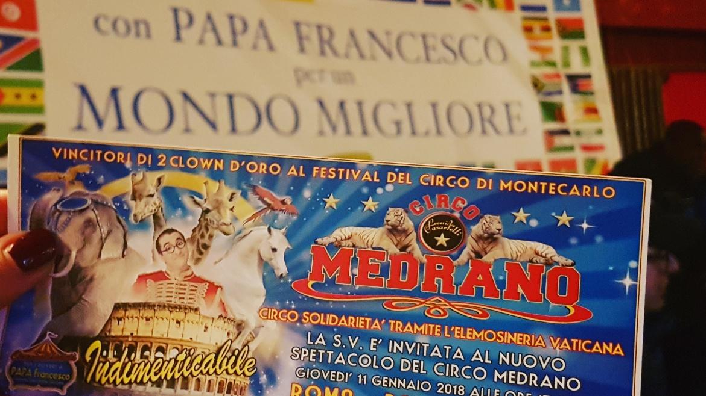 La cooperativa Auxilium al circo Medrano grazie a Papa Francesco