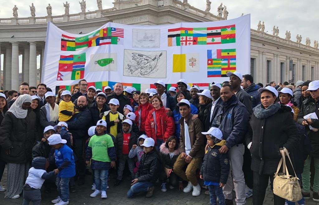 La cooperativa Auxilium partecipa all'Angelus di Papa Francesco