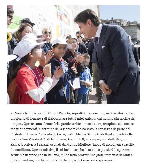 Assisi: le parole dei grandi, l'inchiostro dei bambini