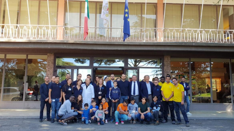 Il giornalista Paolo Borrometi in visita a Mondo Migliore