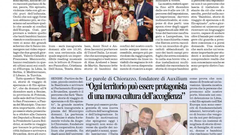 """Angelo Chiorazzo: """"Ogni territorio può essere protagonista di una nuova cultura dell'accoglienza"""""""