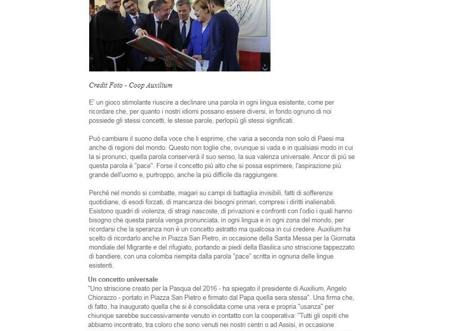 L'articolo dedicato ad Auxilium dalla rivista San Francesco