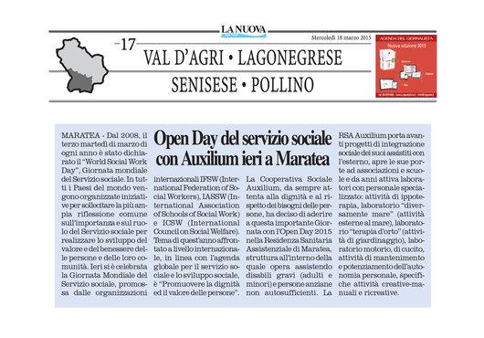 Open Day del servizio sociale con Auxilium a Maratea