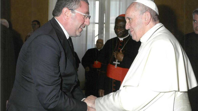 San Francesco, Angelo Chiorazzo interviene dopo l'omelia del Papa